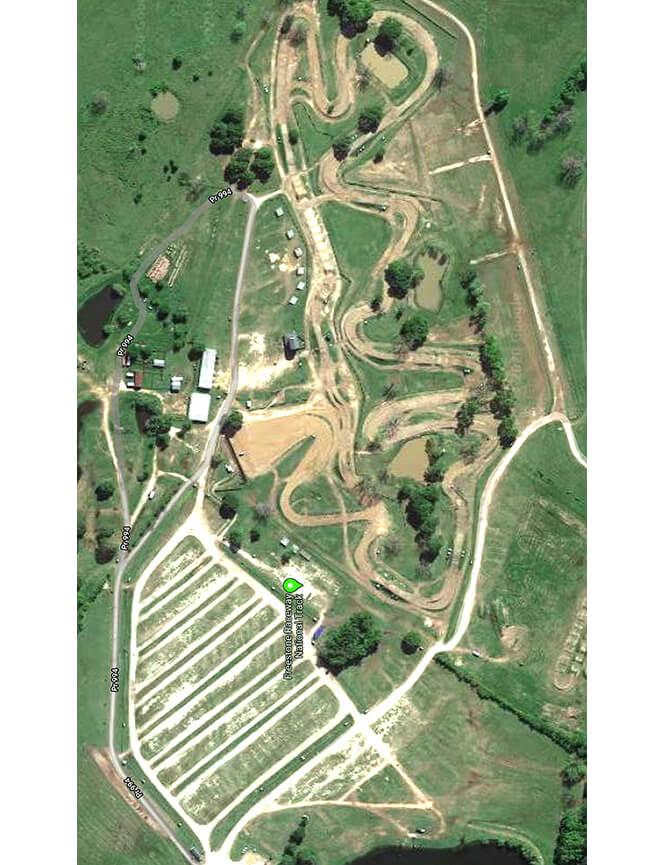 Freestone County Raceway Dirt Biking Map
