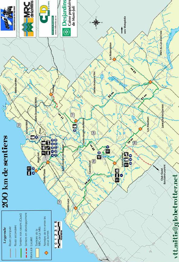 Club VTT Mitis ATV Trails Map