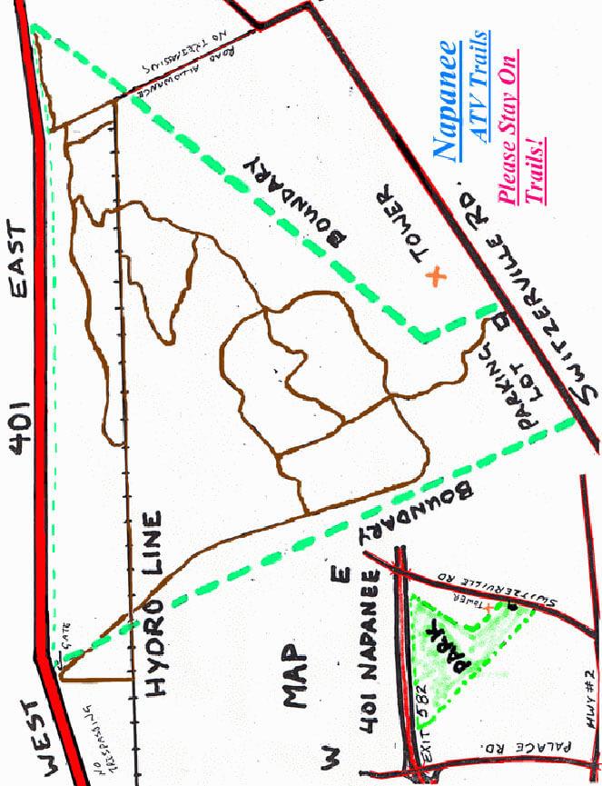 Napanee ATV Trails ATV Trails Map