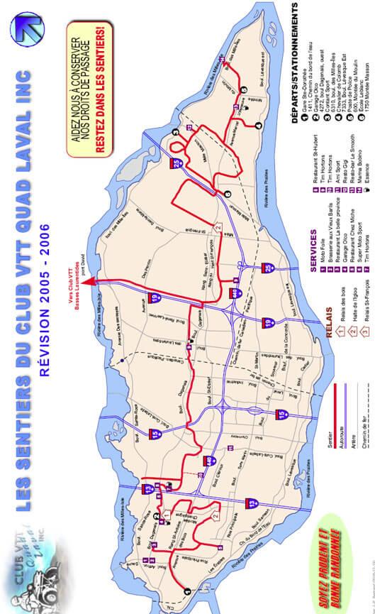Club VTT Quad Laval ATV Trails Map