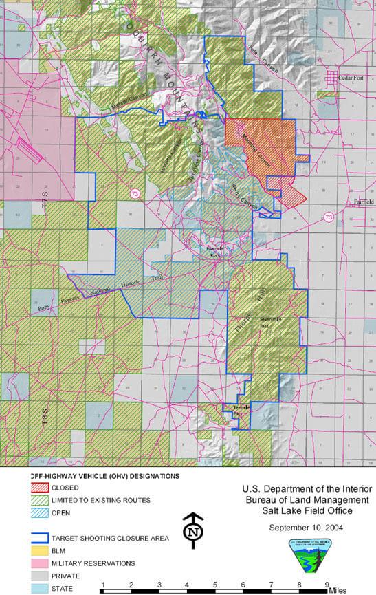 Five Mile Pass Area Dirt Biking Map