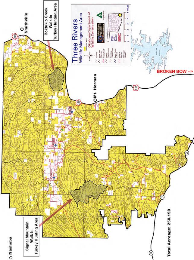Three Rivers Wildlife Management Area ATV Trails Map