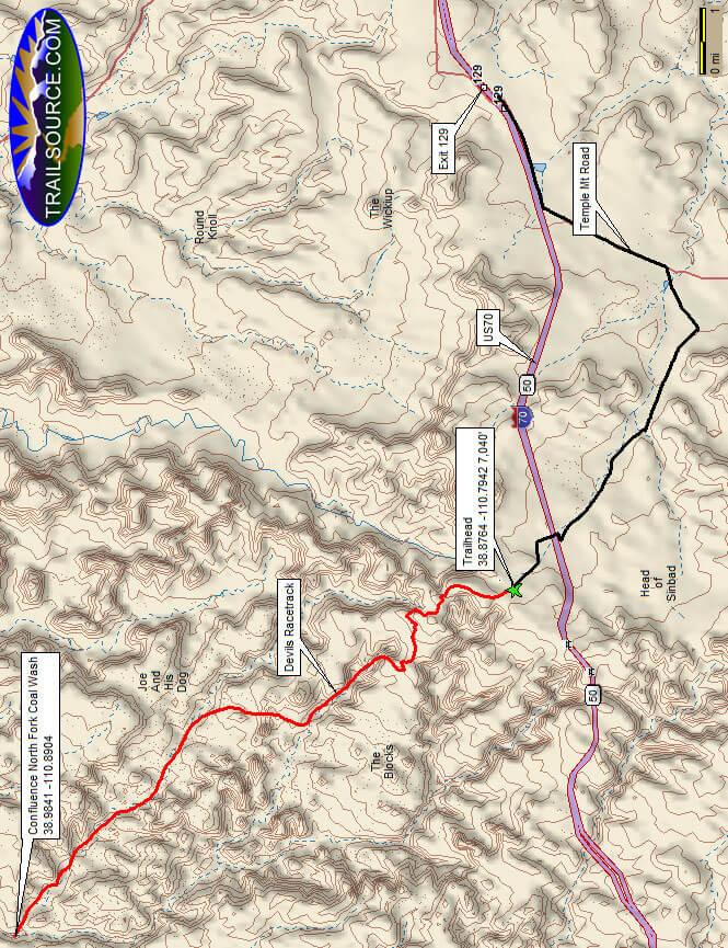 Devils Racetrack Trail Dirt Biking Map