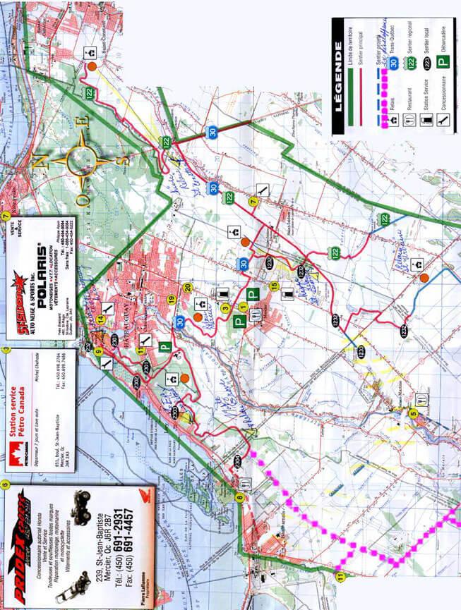Club VTT Les Boucaniers ATV Trails Map