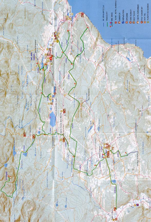 Club VTT Du Grand Charlevoix ATV Trails Map