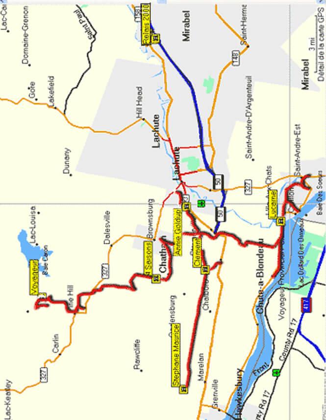 Club VTT D Argenteuil ATV Trails Map
