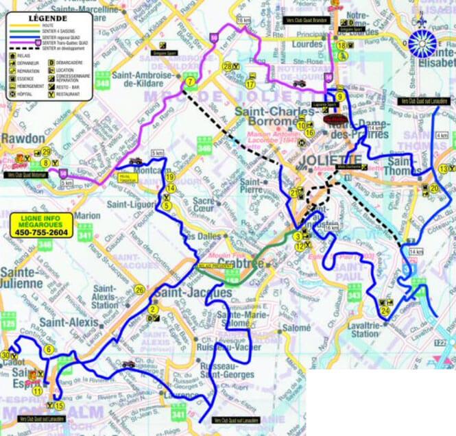 Club Megaroue Joliette ATV Trails Map