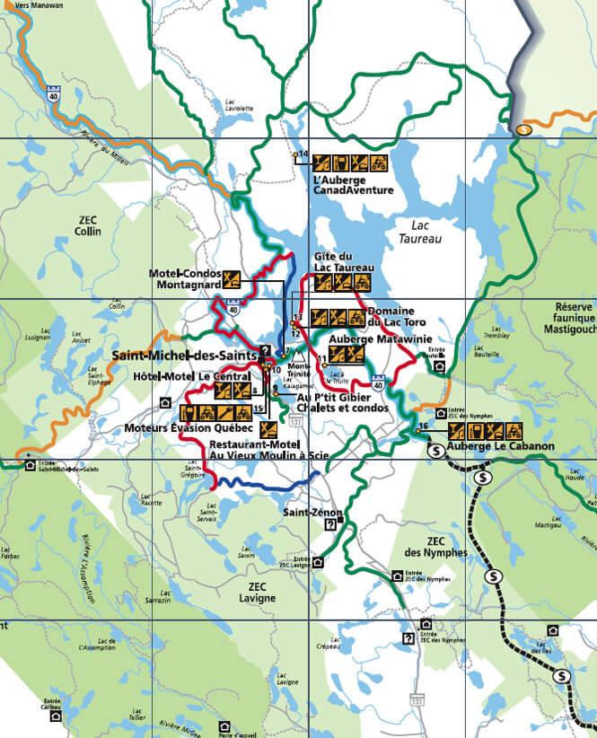 Club Quad Matawinie ATV Trails Map