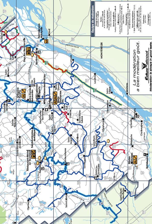 Le Club Quad Sud Lanaudiere ATV Trails Map