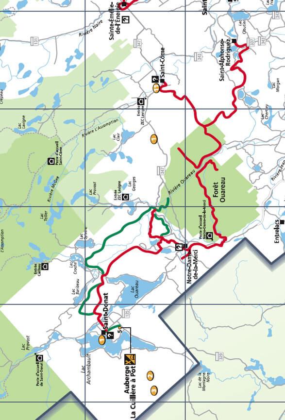 Le Quad VTT Ouareau ATV Trails Map