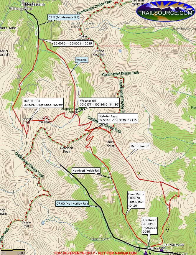 Webster Pass ORV Dirt Biking Map