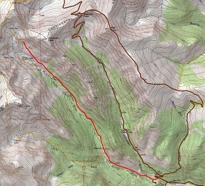 Hall Valley Road Dirt Biking Map