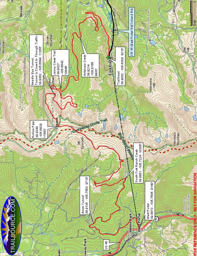 Rollins Pass Road ATV Trails Map