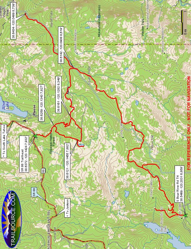 Pardoe Trail OHV Driving Map