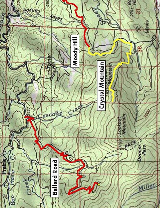 Ballard Hill Road OHV Driving Map
