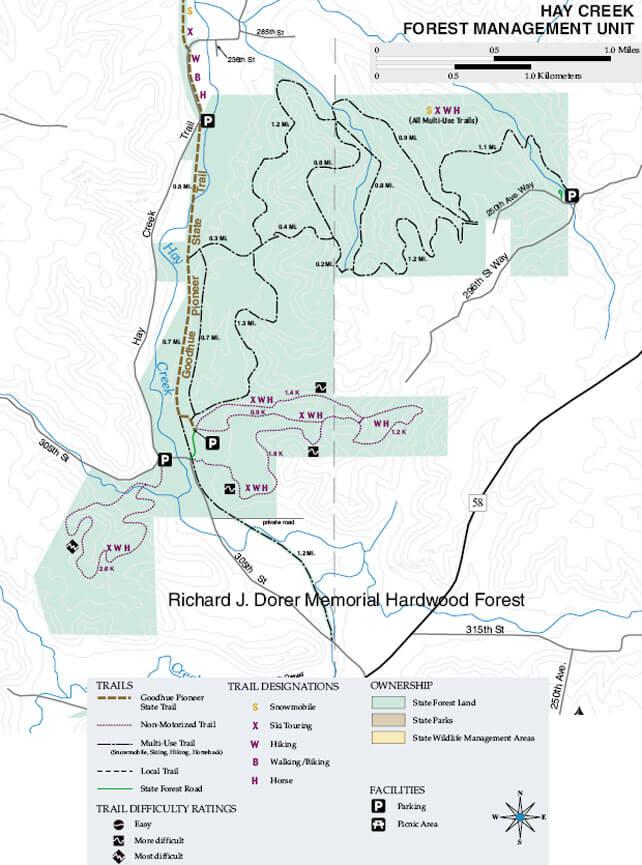 Hay Creek Trails Horseback Riding Map