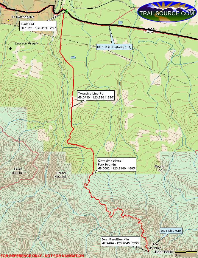 Deer Park Road OHV Driving Map