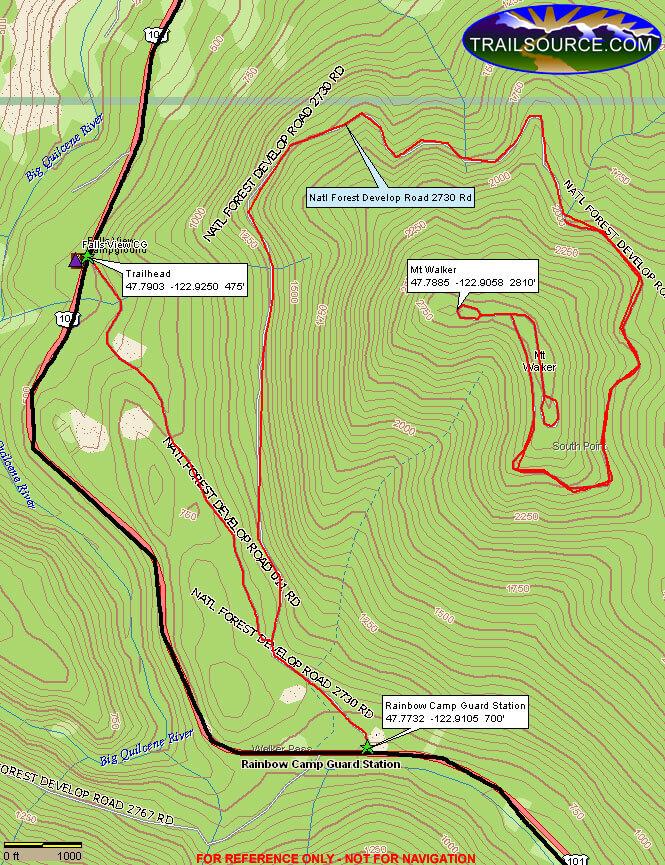 Mount Walker OHV Driving Map