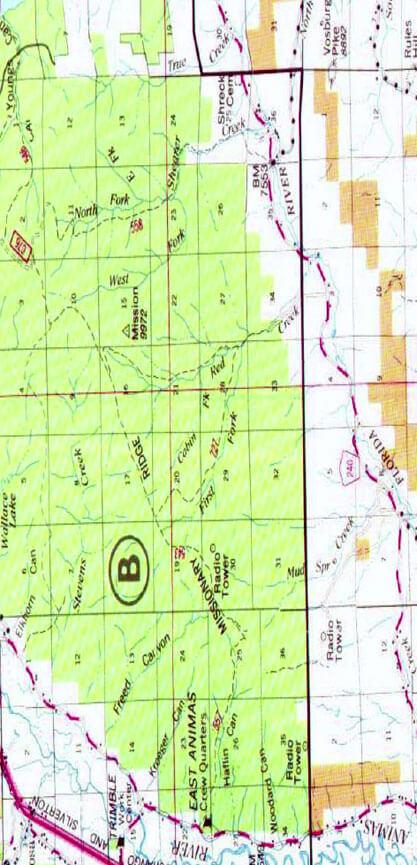 Missionary Ridge Trail Hiking Map