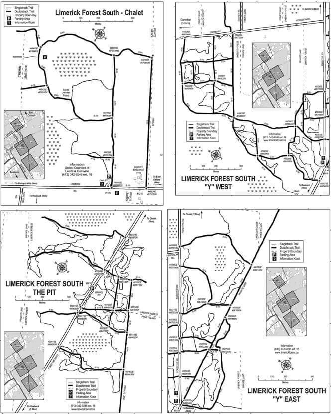 Limerick Forest Mountain Biking Map