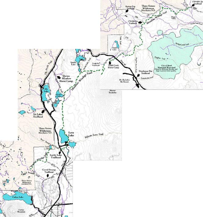 Metolius-Windigo Trail Hiking Map