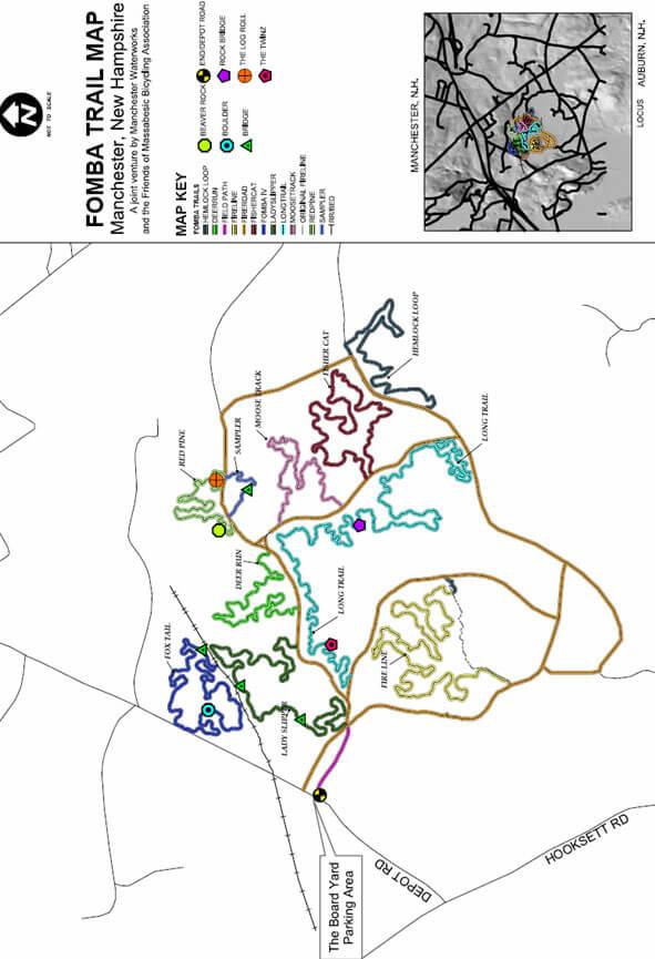 Massebesic Trail System Mountain Biking Map