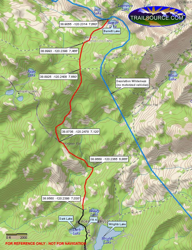 Barrett Lake OHV Driving Map