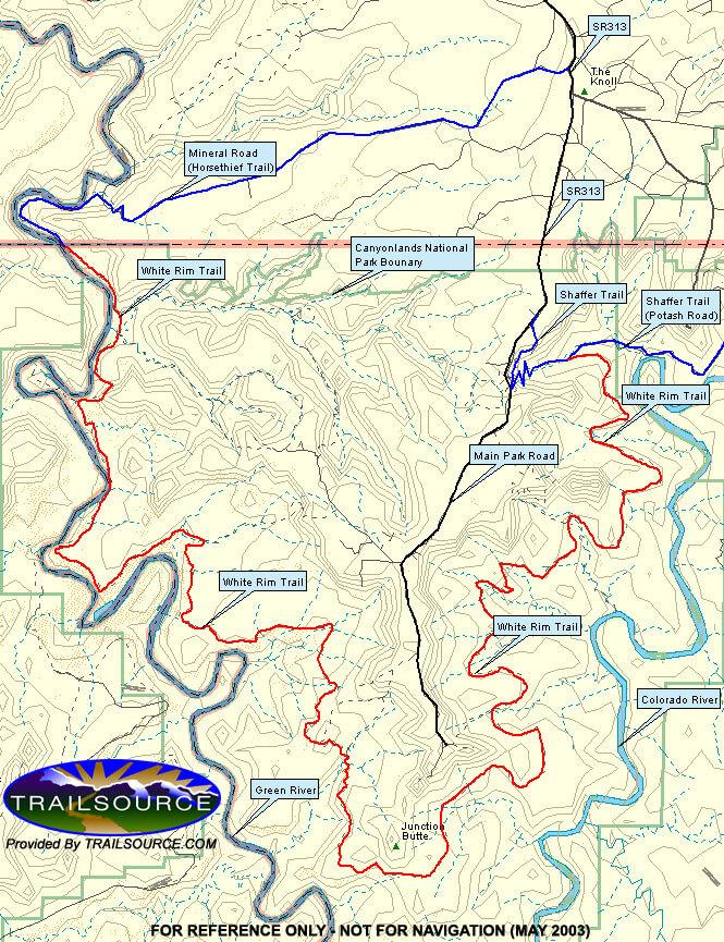 White Rim Trail OHV Driving Map