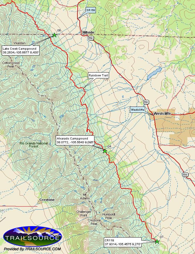 Rainbow Trail ATV Trails Map