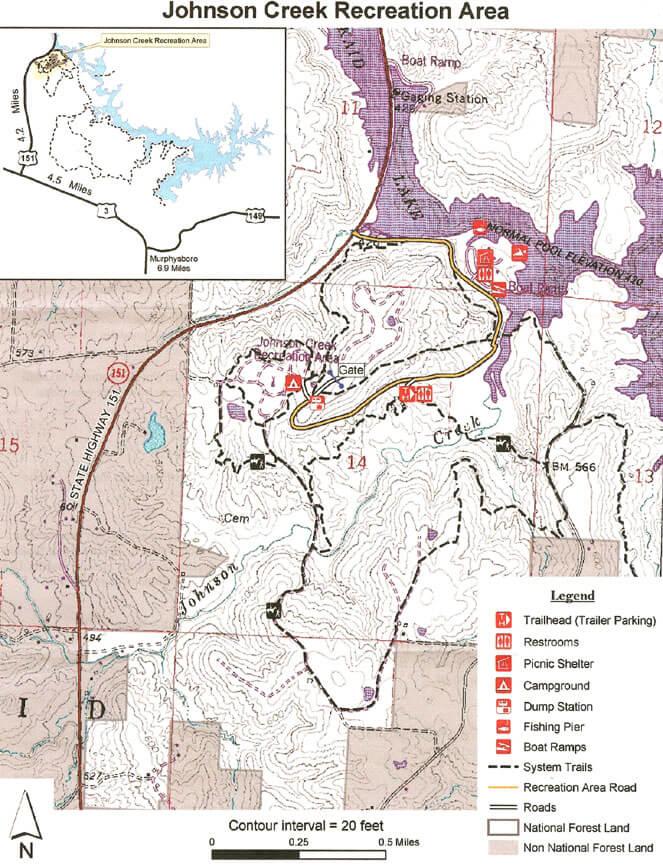 Johnson Creek Hiking Map