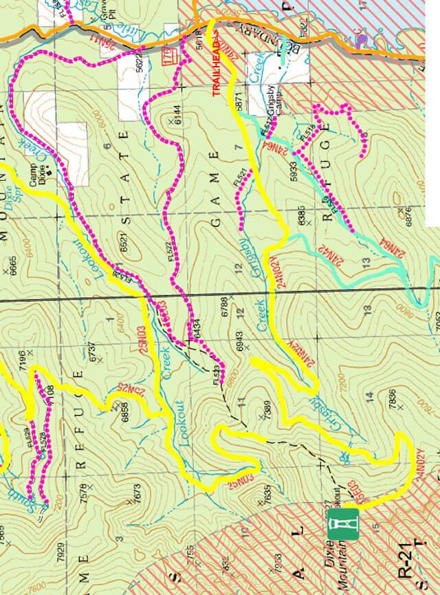 Dixie Mountain Trail ATV Trails Map