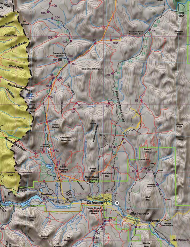 Crowsnest Pass ATV Trails Map