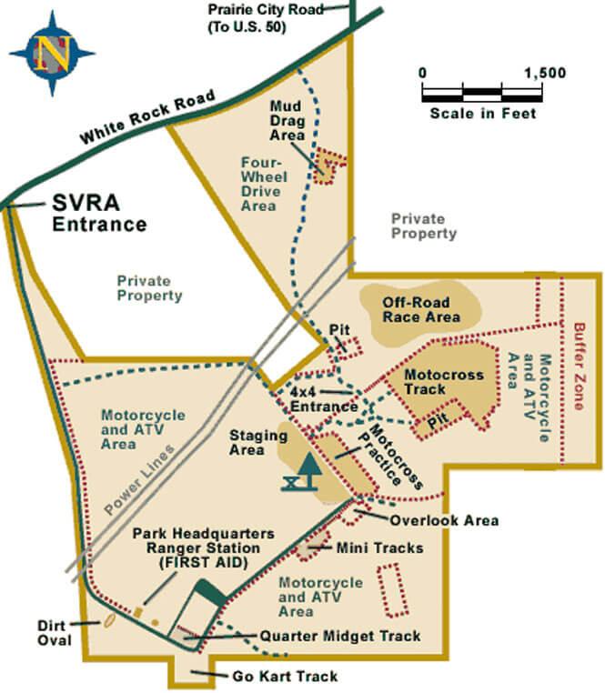 Prairie City SVRA OHV Driving Map