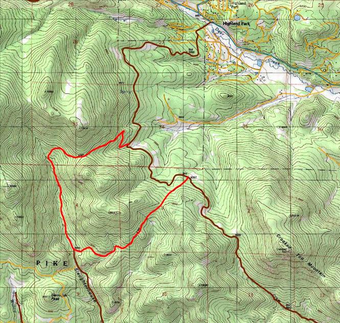 Slaughterhouse Gulch Trail Dirt Biking Map