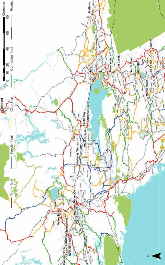 Burks Falls Snowmobiling Map