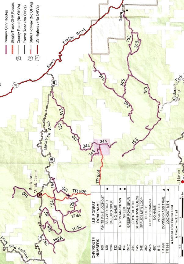 Buckhorn ATV Trails Map
