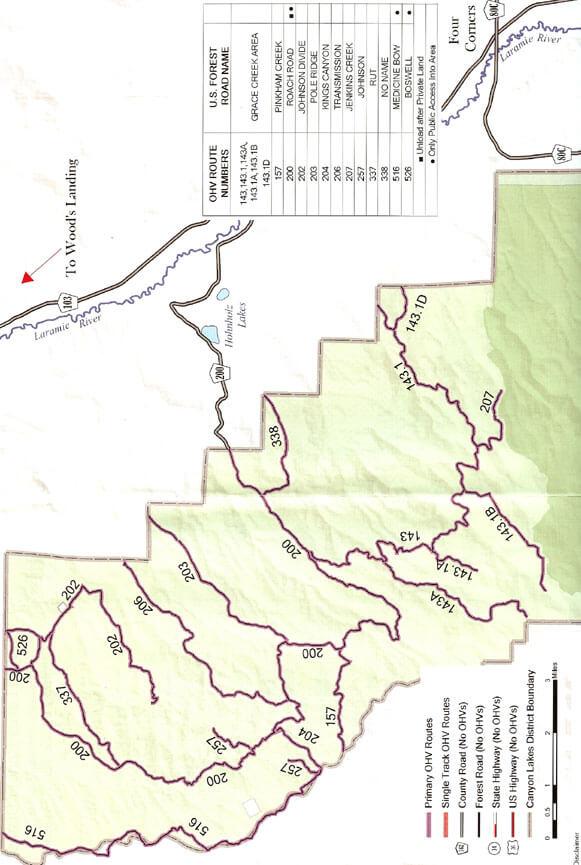 Four Corners / Roach Road ATV Trails Map