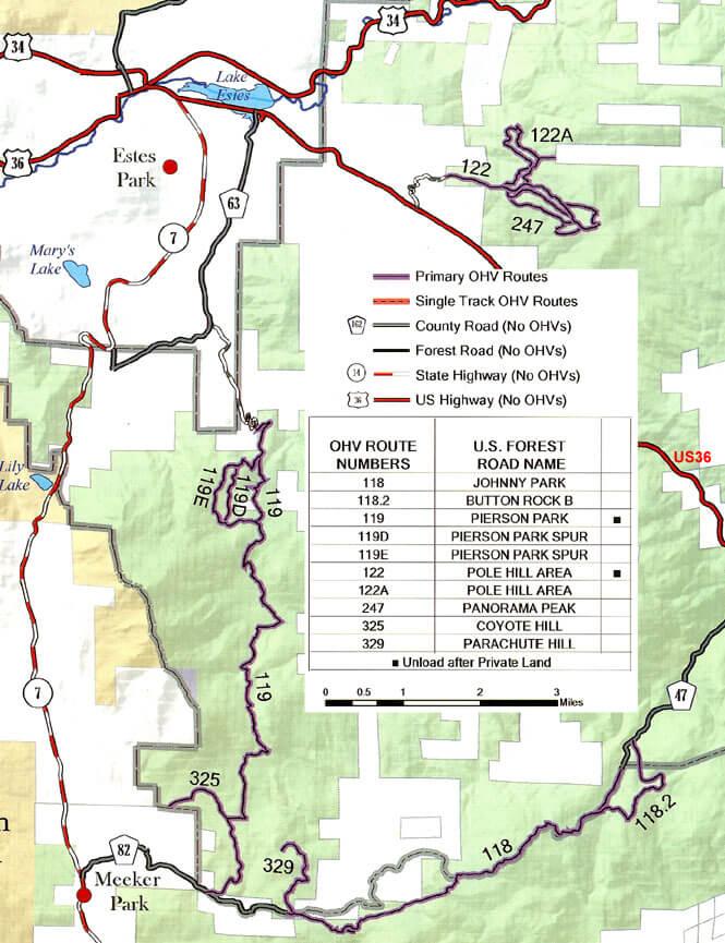 Meeker Park Dirt Biking Map