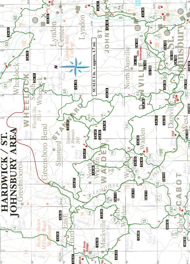 Hardwick / St Johnsbury Snowmobiling Map