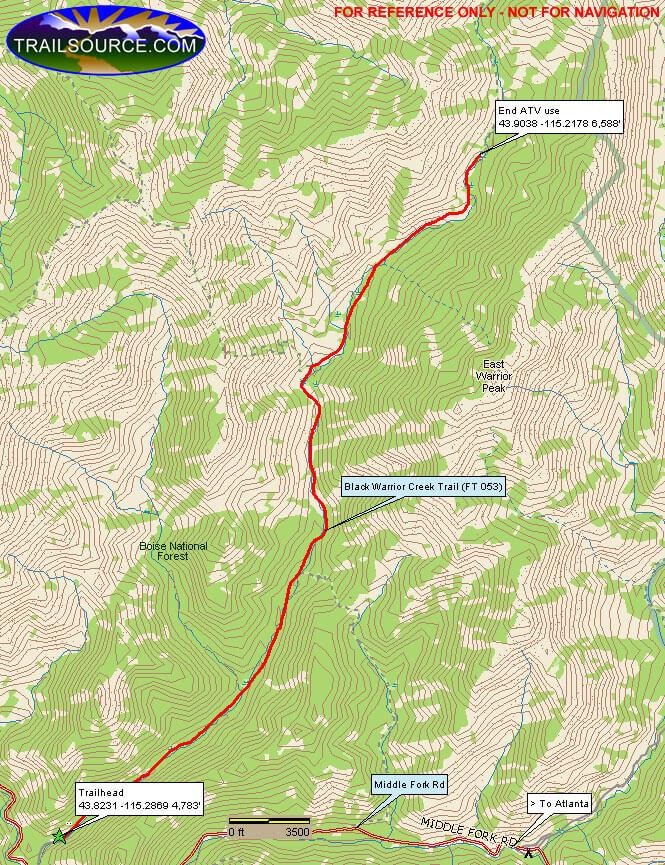 Black Warrior Trail Hiking Map