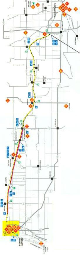 Kal Haven Trail Mountain Biking Map