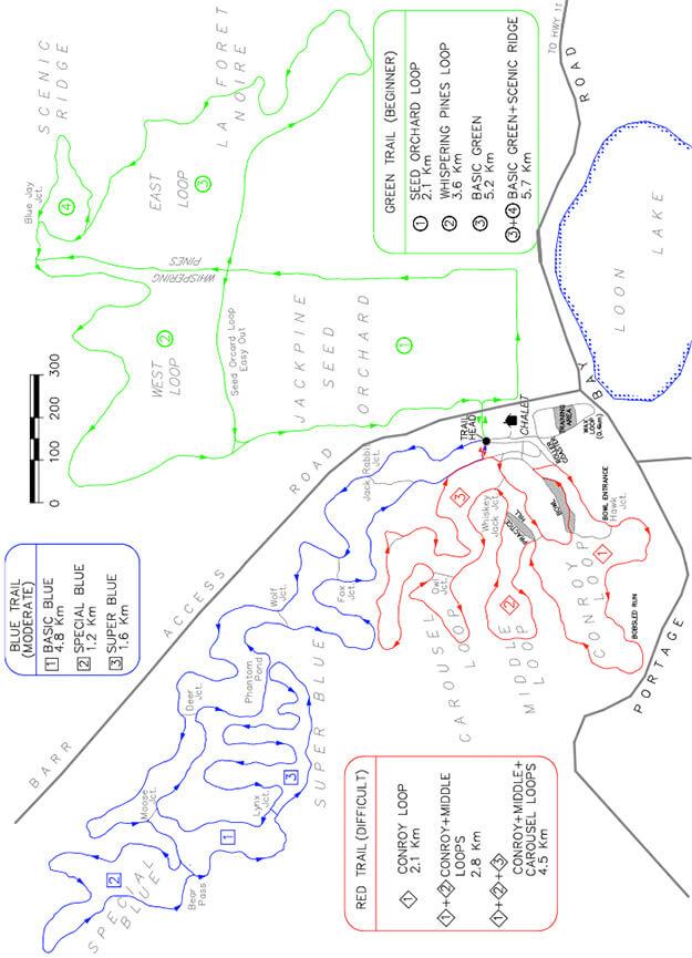 Temiskaming Nordic Ski Club Cross Country Skiing Map