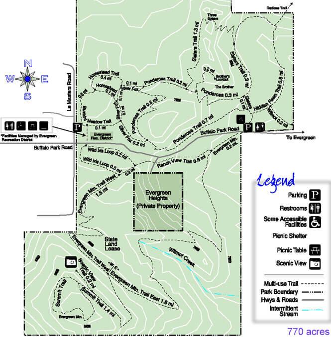Three Sisters Park Horseback Riding Map
