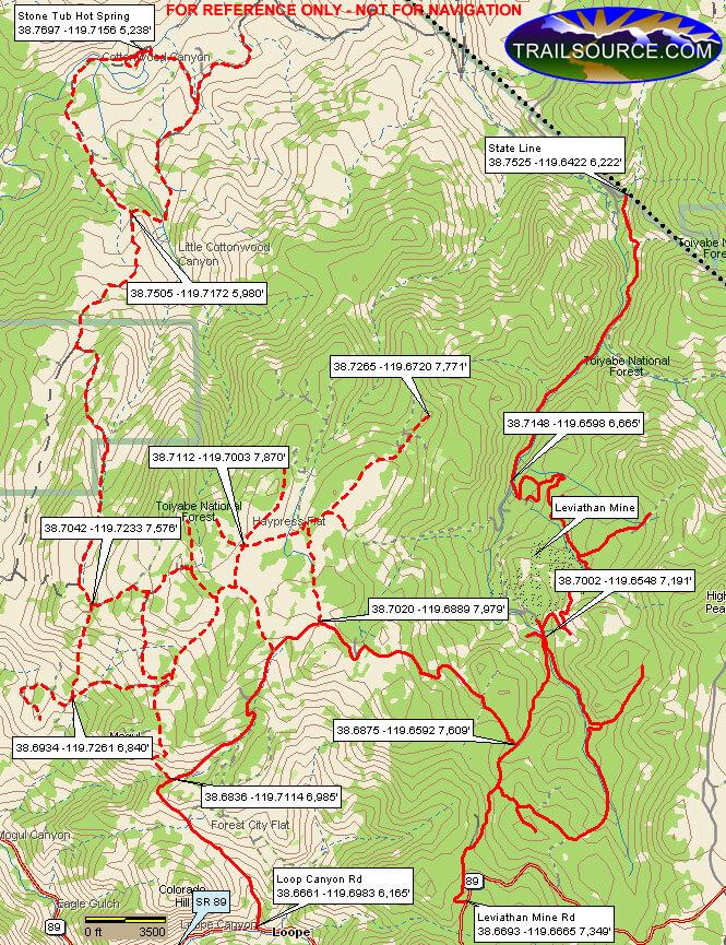 Barney Riley Trail ATV Trails Map