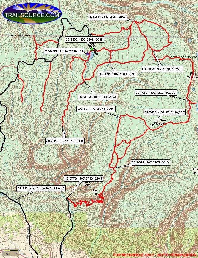 Meadow Lake Dirt Biking Map