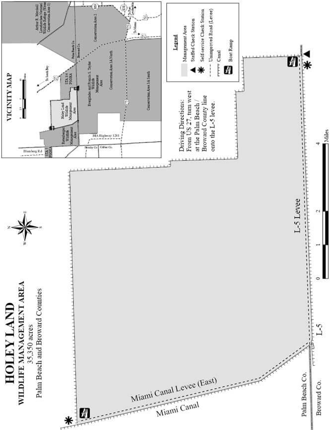 Holey Land Wildlife Management Area ATV Trails Map