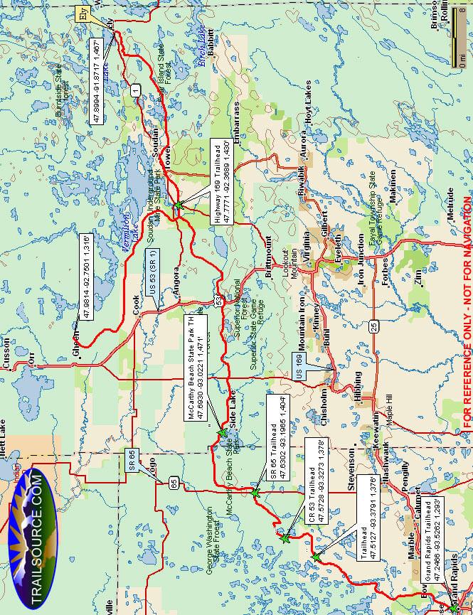 Taconite State Trail Hiking Map