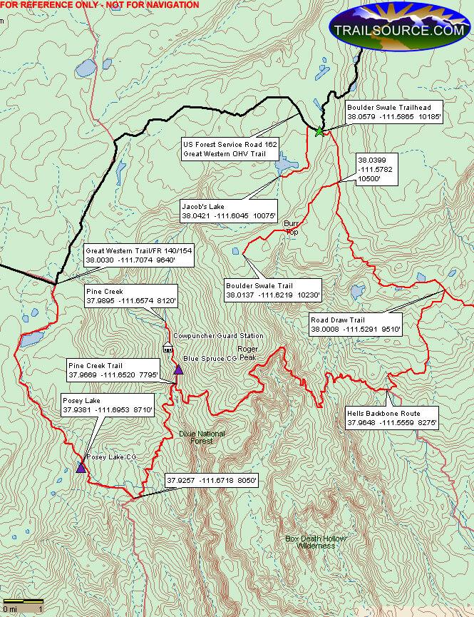 Jacob Lake ORV Loop Dirt Biking Map