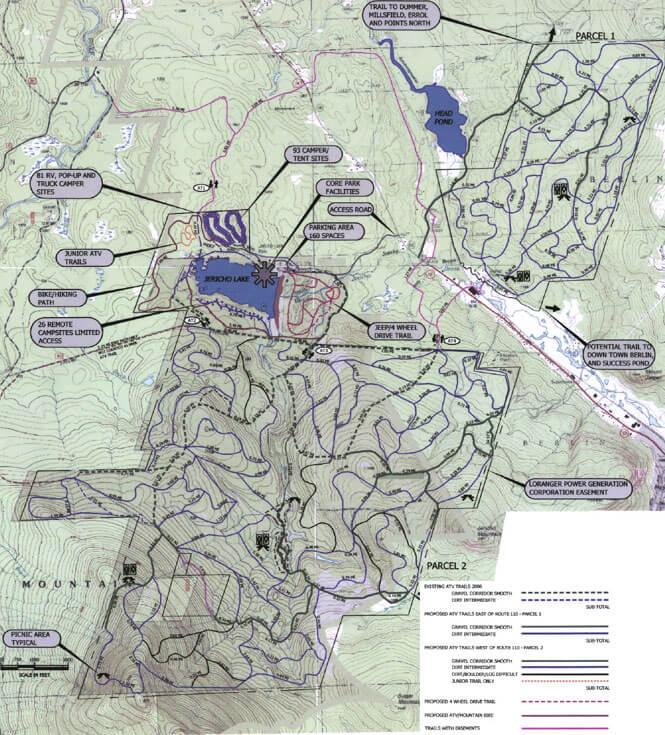 Jericho Lake ORV Park Dirt Biking Map