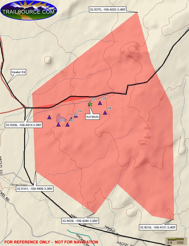 Hot Well Dunes Recreation Area Dirt Biking Map